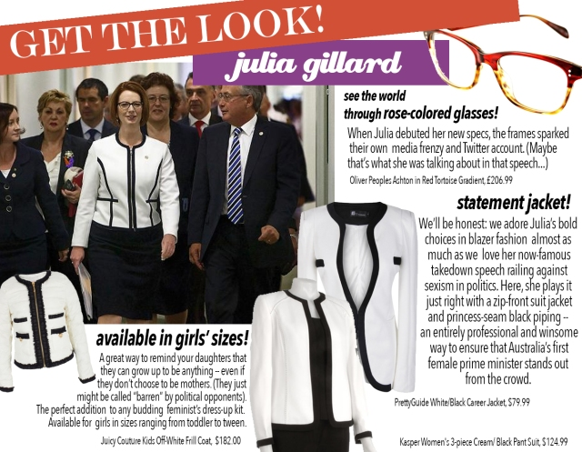 get the look: julia
